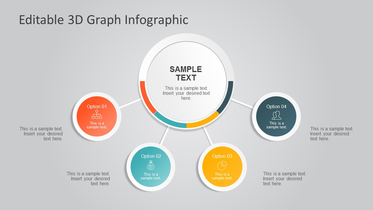 3D Circle Diagram Infographics