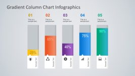 Gradient Column Chart Slide Infographics