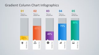 Gradient Column Chart PowerPoint Infographics