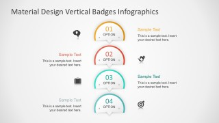 4 Steps Vertical Badges Infographics