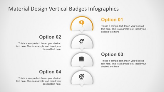 Colored Vertical Banners Infographics Diagrams