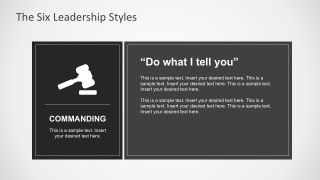 Commanding Leadership Style for PowerPoint