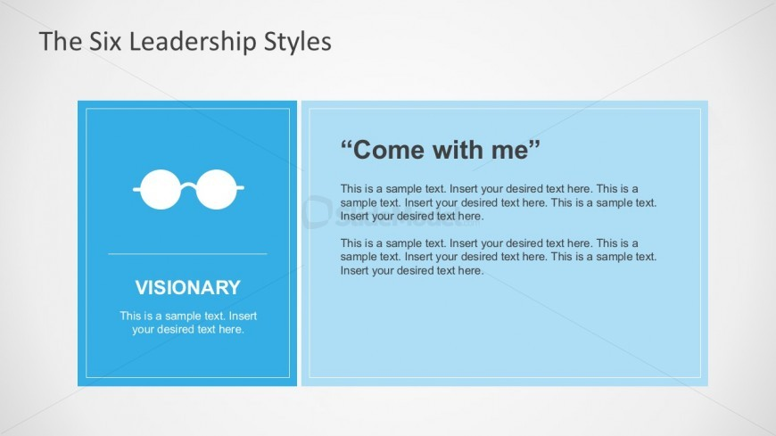 Visioanry Leadership Style for PowerPoint