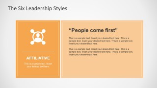 Affiliative Leadership Style for PowerPoint