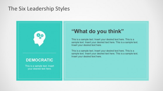 Leadership Styles PowerPoint Colored Charts