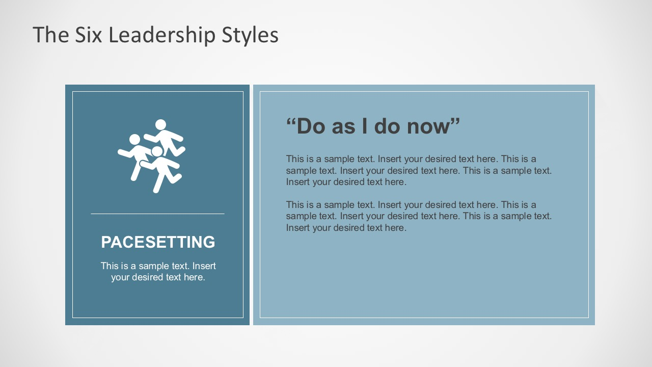 Pacesetting Leadership Style for PowerPoint