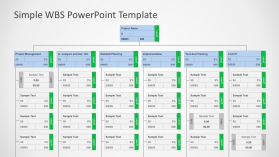 work breakdown structure powerpoint templates, Modern powerpoint