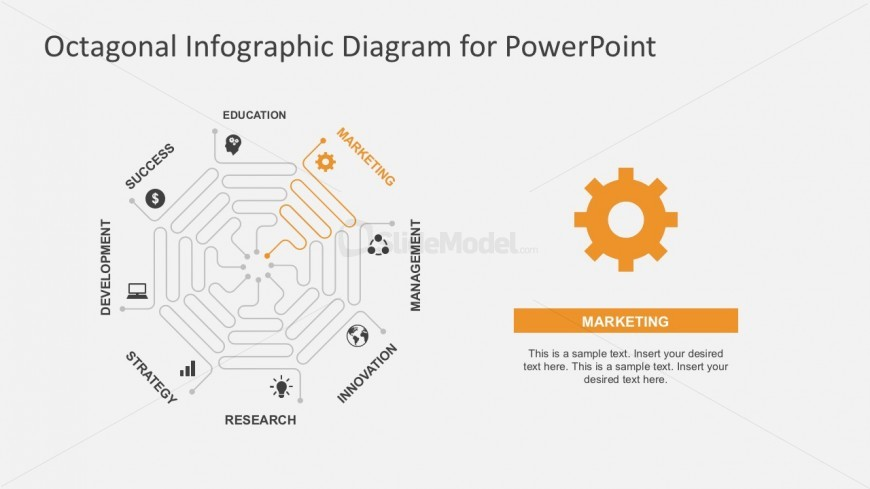 Thin Lines Business PowerPoint Infographics