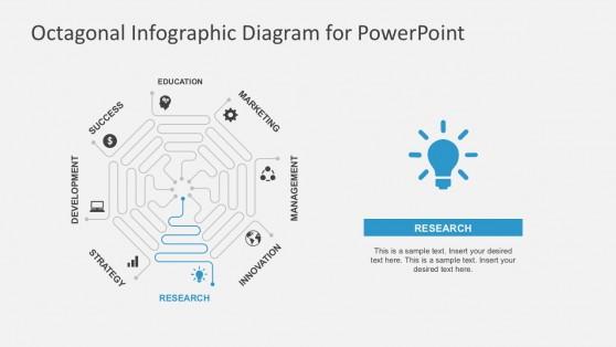 Octagonal Spiral Design PowerPoint Slides