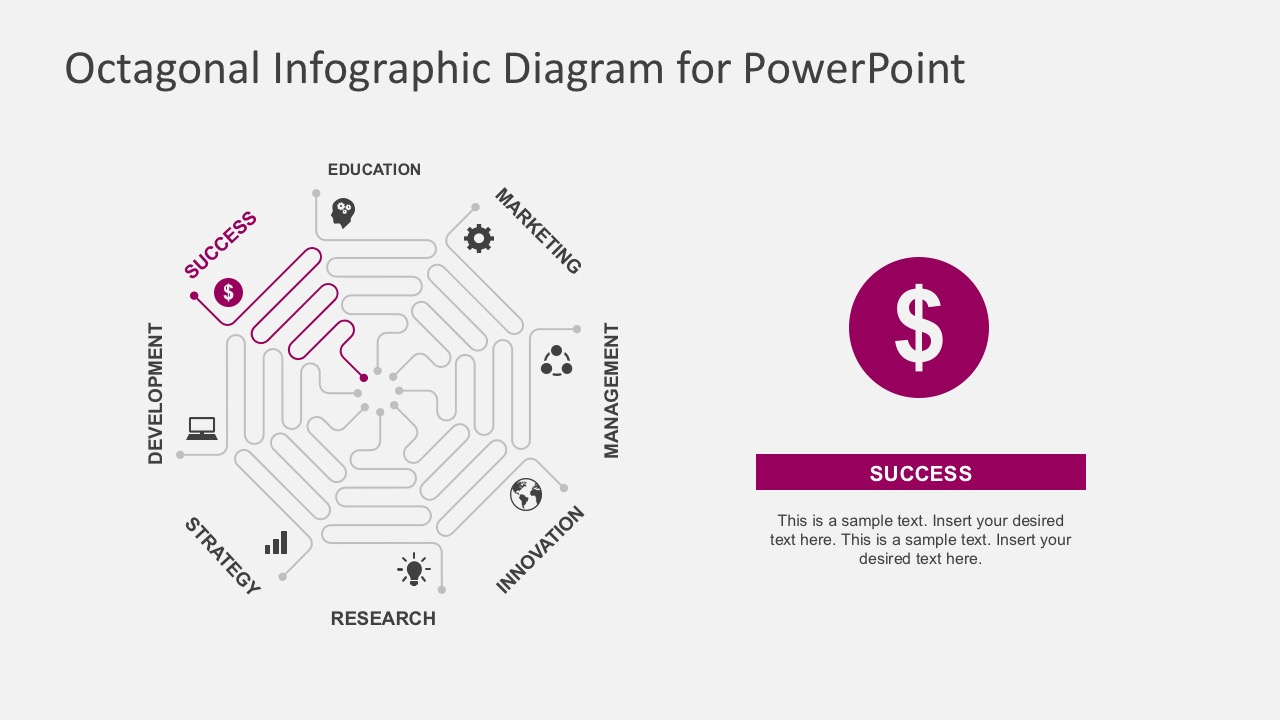 Octagon Infographic Diagrams With PowerPoint Icons