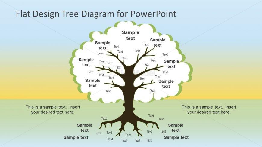 Flat Design Tree Diagram PowerPoint Template
