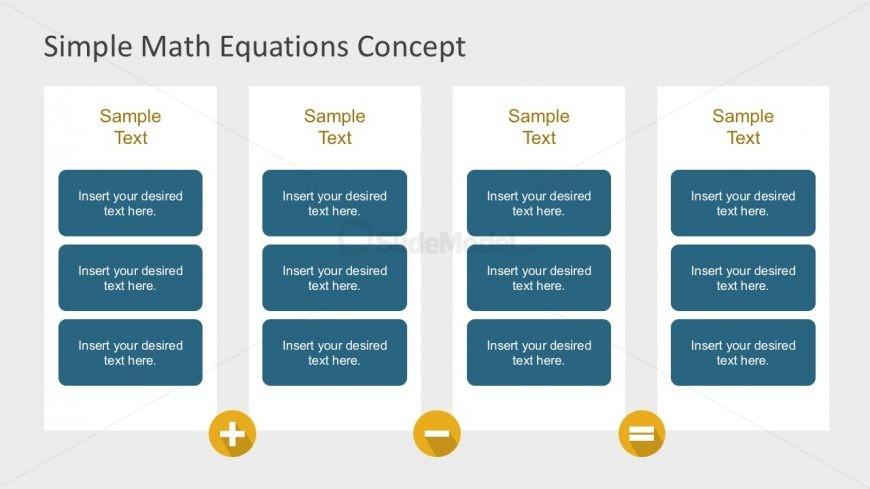 4 Columns Simple Math Equation Slides - SlideModel