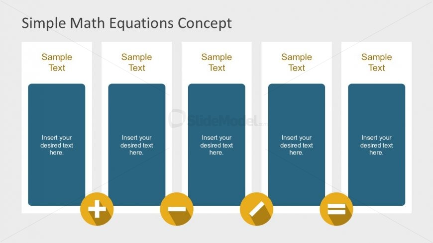 5 Columns Math Equation Editable Slides