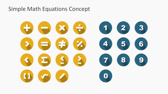 Mathematical Operations Icons for PowerPoint