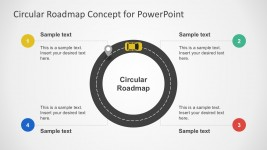 Circular Roadmap PowerPoint Slide Vectors
