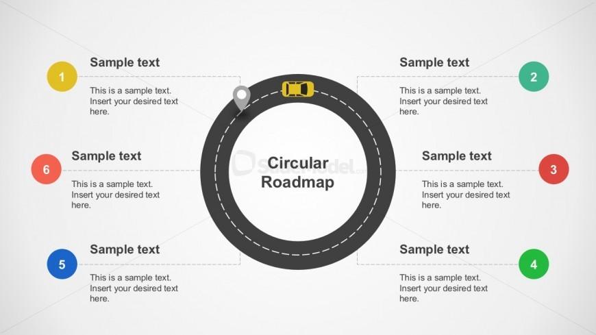 Roadmap Process Flow Flat PowerPoint Design