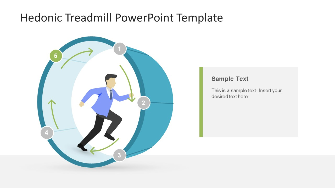 Creative Illustration of Hedonic Treadmill Concept