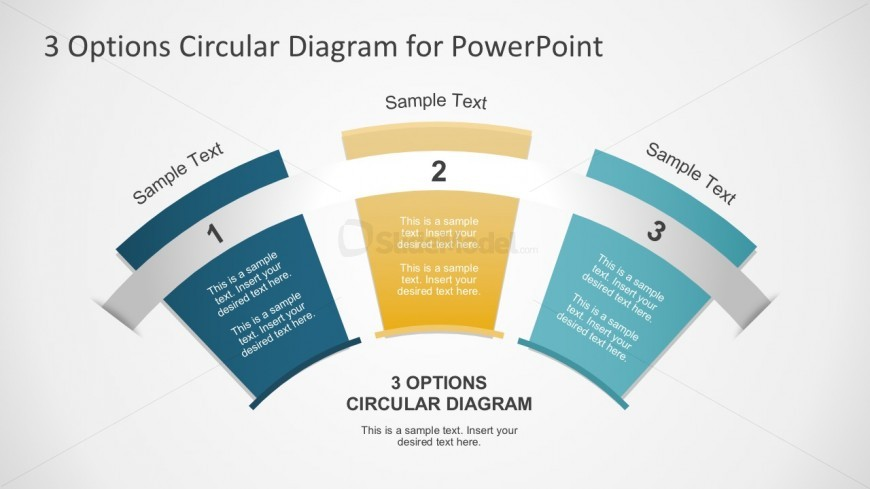 Creative 3 Options Slides In PowerPoint