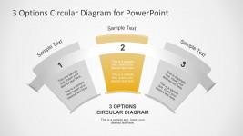 3 Steps Circular PowerPoint Slide Templates