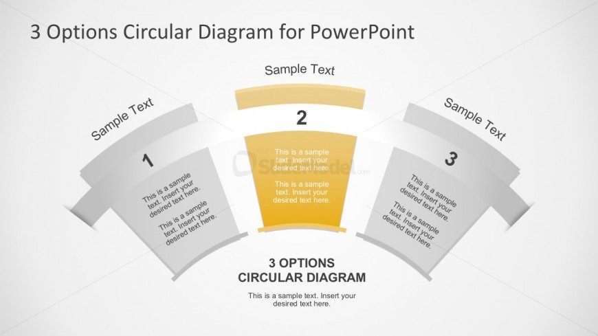 3 Steps Circular Fan Infographic Slides