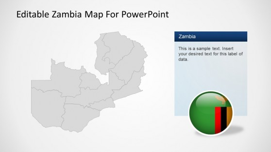 Political Outline Map of Zambia