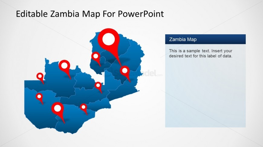 PPT Map Of Zambia with Icons