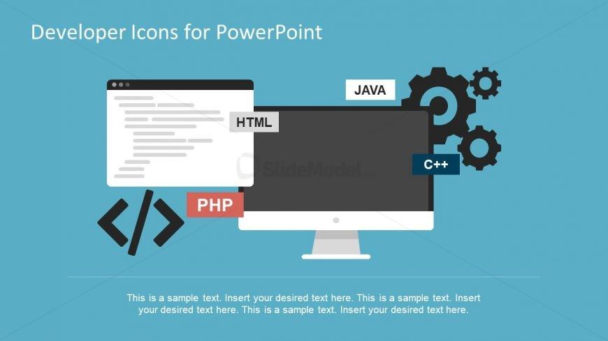 PowerPoint Developer Icons Template Slide