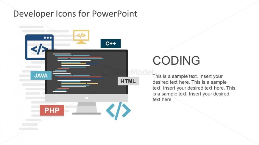 Html and coding powerpoint shapes slidemodel coding and programming shapes template toneelgroepblik Images
