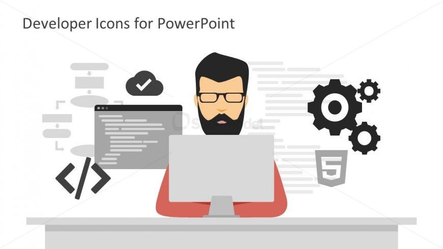 Software Developer Writing Code PPT