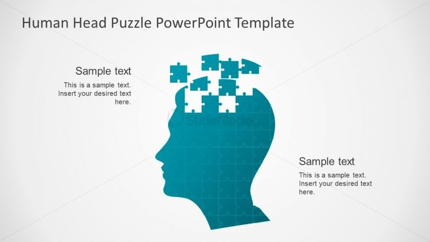 Jigsaw Puzzle Shapes Slide Template