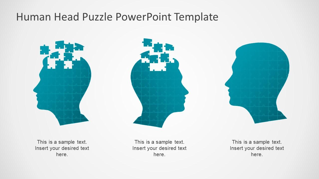 Human head puzzle powerpoint template slidemodel gradient powerpoint jigsaw puzzle slide maxwellsz