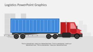 Truck Shape for Logistics and Cargo Shipping