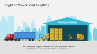 Delivery Truck and Warehouse Workers Template