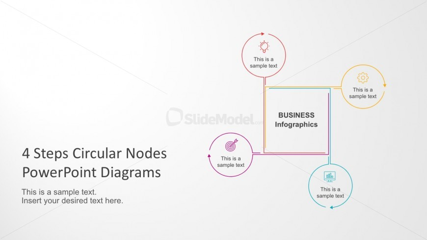 Business Circle Nodes Diagrams PowerPoint