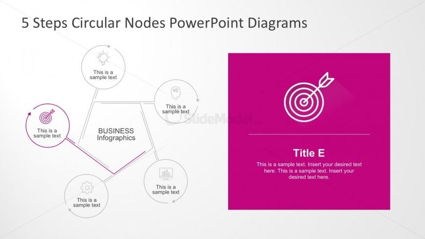 5 Step Process Circle Arrow Diagram Slides