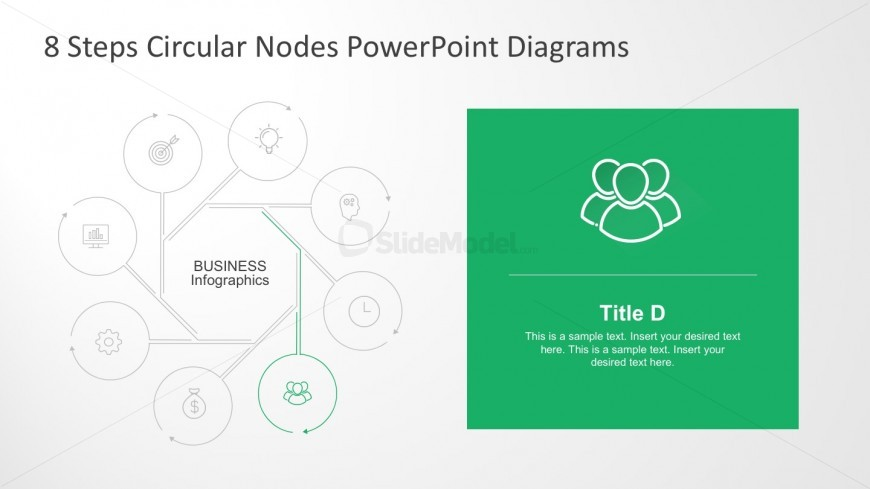 8 Steps Flat Diagram PowerPoint Presentation Slides