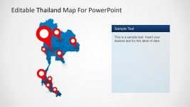 Editable Thailand Map with Cities