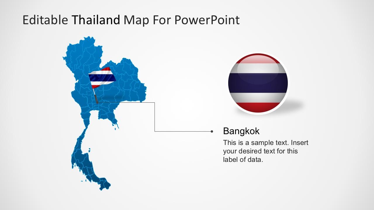 Map of Thailand PowerPoint Presentation