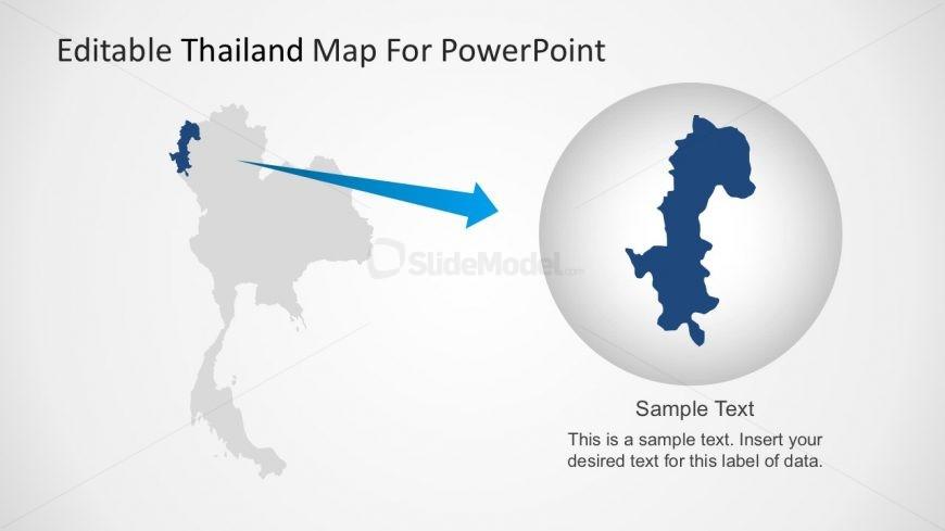 Editable Map of Thailand Presentation Slide