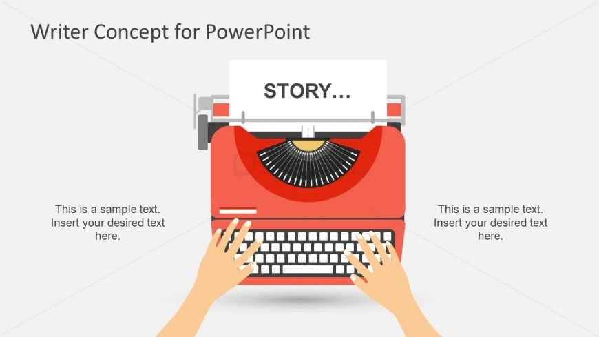 Writer Concept Metaphor PowerPoint Shapes Template