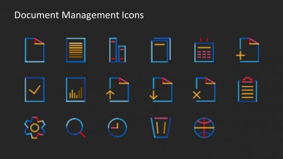 Icon Collection Slide for Document Management System