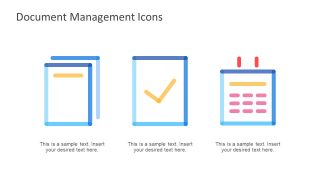 PowerPoint Document Management System Icons