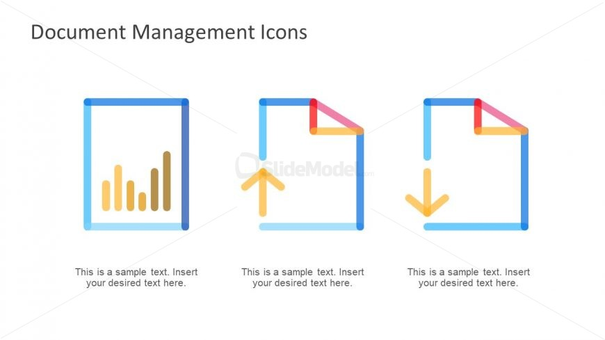 Upload Download File Icon Presentation