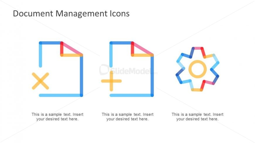 Gradient Line Shape Document Icons