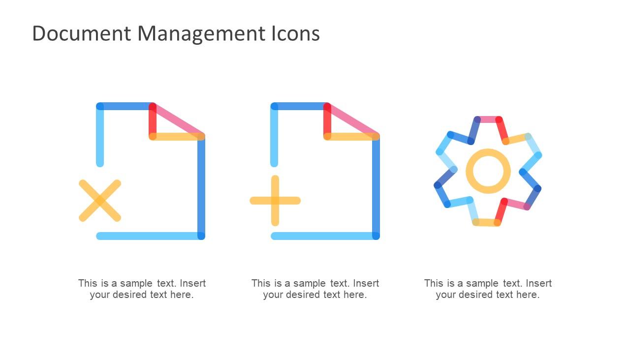 Gradient Line Shape Document Icons