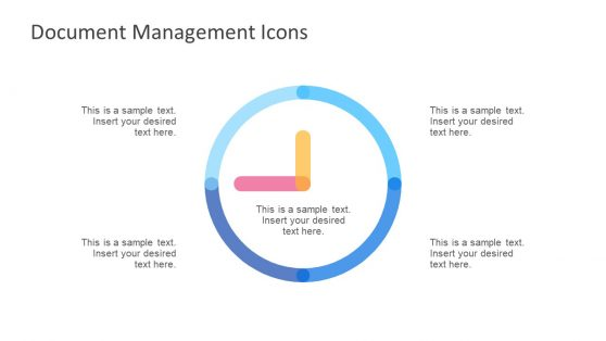 Gradient Clock Shape Icon in PowerPoint