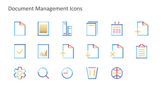 17 Icon Slide of Document System Template