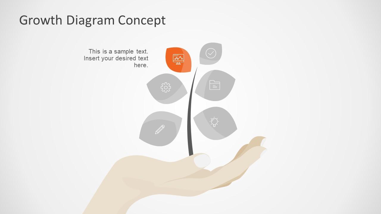 Leaf Shape Infographic Icons
