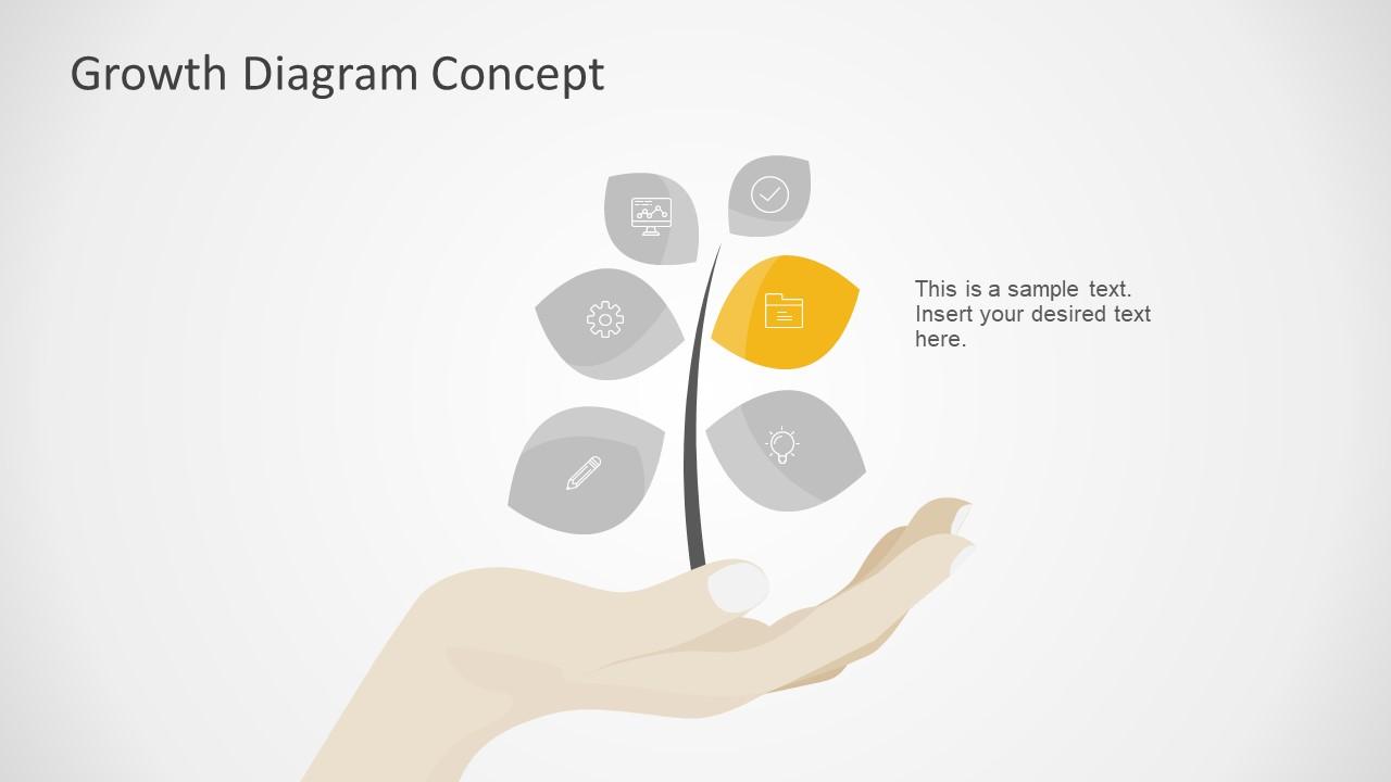 Editable Slide of 6 Step Diagram