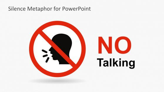 No Talking PowerPoint Shapes